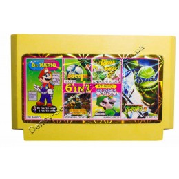 Картридж денди (6 в 1) Turtles 3/ Soccer/ Dr Mario