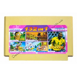 Картридж денди (132 в 1) Adventure Island/ Bomberman/ Soccer