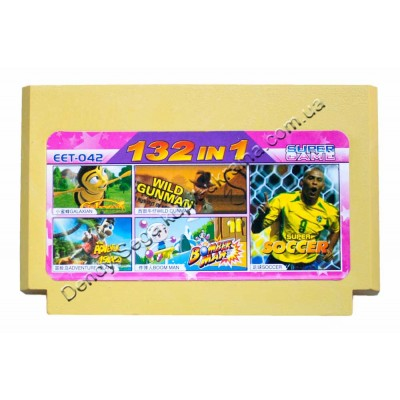 Картридж Dendy 8 bit Adventure Island/Bomberman/Soccer