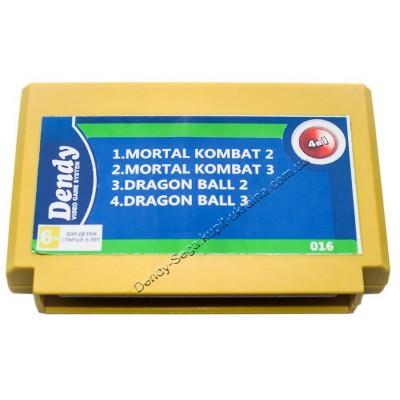 Картридж Dendy 8 bit Mortal Kombat 2+3/Dragon Ball 2+3
