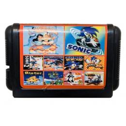 Картридж Сега 10 в 1 Aladdin/ Sonic-1-2 (в коробке)