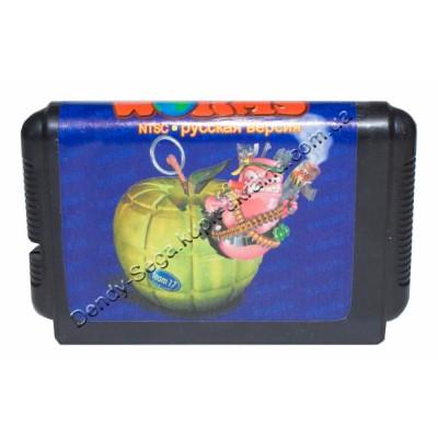 Картридж Sega Mega Drive 16 bit Worms (Червяки)