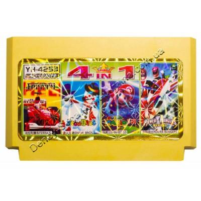 Картридж Dendy 8 bit Power Rangers, Snow Bros, Mario 10, Ferrari