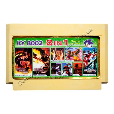 Картридж Dendy 8 bit Mortal Kombat-4-5/Power Rangers/Pocket World