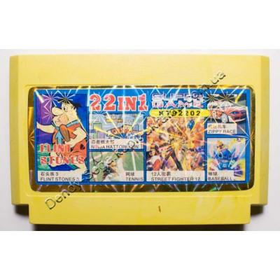 Картридж Dendy 8 bit Flinstones, Street Fighter 12, Zippy Race, Tenis, Baseball, Ninja Hattori Kun