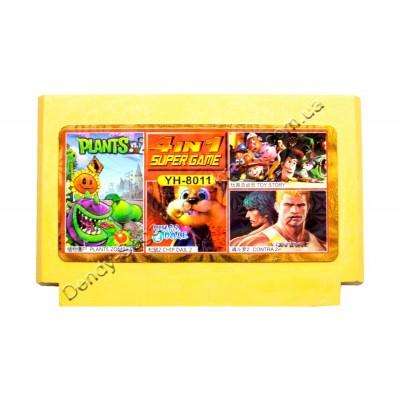 Картридж Dendy 8 bit Contra-2: Super Contra/Chip Dale-2/Plants Zombies/Toy Story