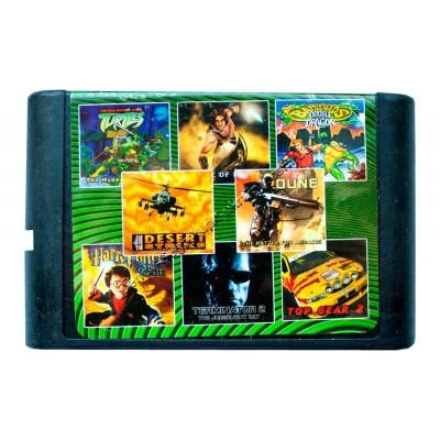 Картридж Sega 16 bit 8 в 1 Dune/ Turtles/ Rockn Roll Racing