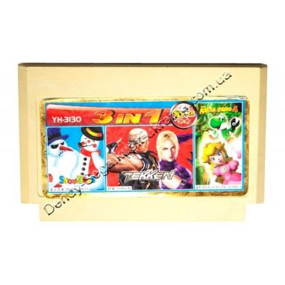 Картридж Dendy 8 bit Tekken/Adventure Island 4/Snow Bros (Brother)