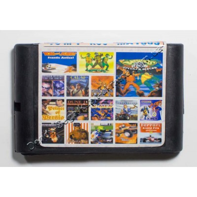 Картридж Sega Mega Drive 16 bit Battletoads 2/ Turtles/ Golden Axe 3/ Tom  Jerry/ Batman Revenge Joker/ Cal 50/ Prince of Persia/ Dune 2/ Spider Man and X Man/ X Man/ Midnight Resistance/ Terminator 2/ Wrestle War/ Road Rash 2/ Rockn Roll Racing/ Ferrari