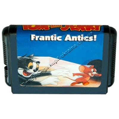 Картридж Sega 16 bit Tom Jerry Frantic Antics (Приключения Тома и Джерри)