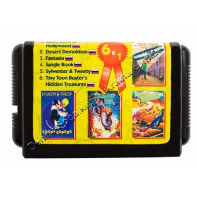 Картридж Sega 16 bit Jungle Book/ Desert Demolition/ Daffy Duck in Hollywood