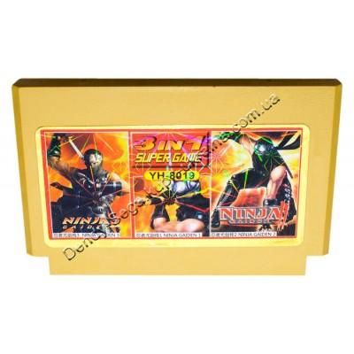 Картридж Dendy 8 bit Ninja Gaiden-1-2-3