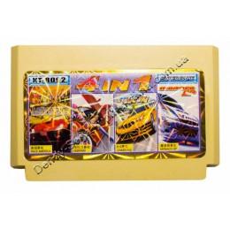 Картридж денди Race America/ Ferrari/ Chase HQ/ Monaco GP
