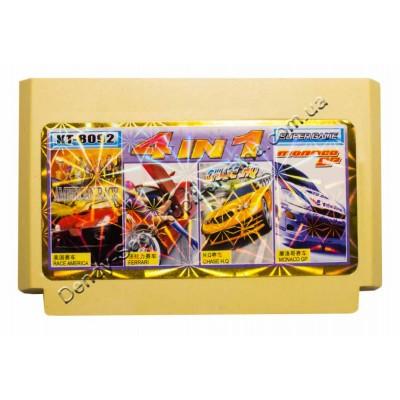 Картридж Dendy 8 bit Race America/ Ferrari/ Chase HQ/ Monaco GP