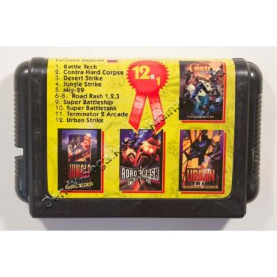 Картридж Sega Mega Drive 16 bit BattleTech/ Contra Hard Corps/ Desert Strike/ Jungle Strike/ Mig 29/ Road Rash/Road Rash 2/Road Rash 3/ Super BattleTank/ Super Battlechip/ Terminator 2: Arcade/ Urban Strike