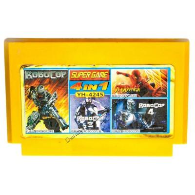 Картридж Dendy 8 bit Robocop 1, Robocop 2, Robocop 3, Spiderman