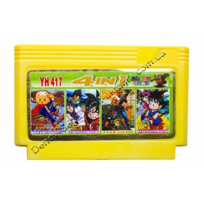 Картридж Dendy 8 bit 3 Eye Boy/Dragon Ball 1+2/Silk Worm