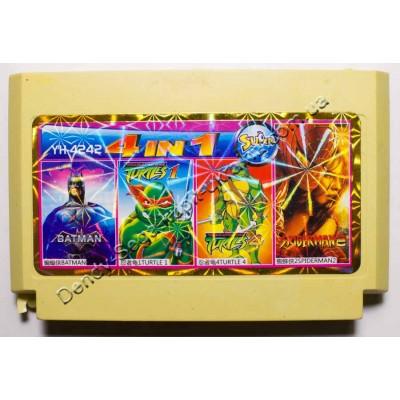 Картридж Dendy 8 bit Batman, Turtles, Turtles 4, Spiderman