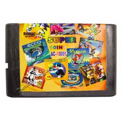 Картридж Sega 16 bit Ariel / Squirrel King/ Earthoworm Jim 2/ Jungle Book