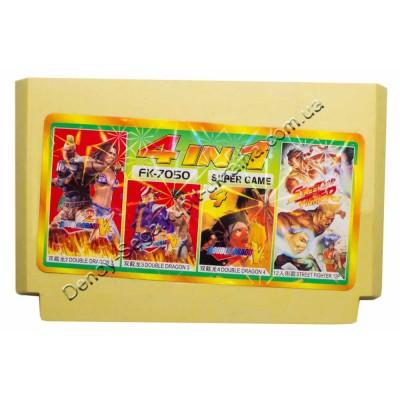 Картридж Dendy 8 bit Double Dragon 2+3+4, Street Fighter 12