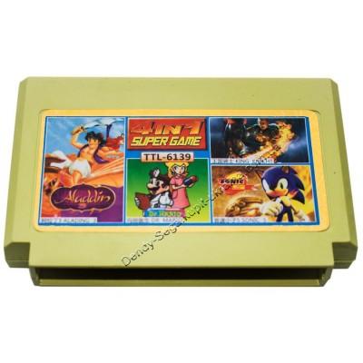 Картридж Dendy 8 bit Aladdin-3/Sonic-5/Doktor DR Mario/King-Knicht
