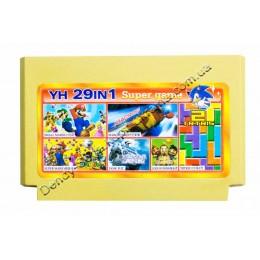 Картридж денди (29 в 1) Tank 90/ Super Mario/ Tetris-2/ Lode Runer