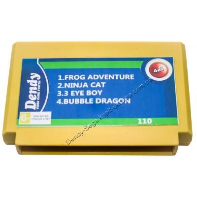 Картридж Dendy 8 bit 3 Eye Boy/Ninja Cat/Frog Adventure/Bubble Dragon-1