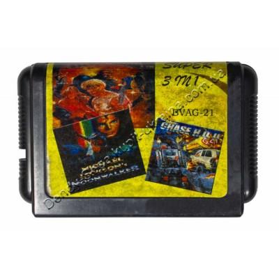 Картридж Sega 16 bit Streets of Rage-3/ Michael Jackson/ Chase HQ-2