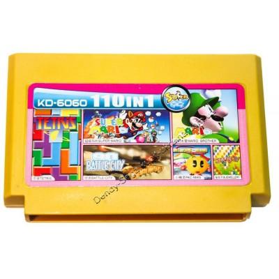 Картридж Dendy 8 bit Battle City/Tetris/Super Mario/Mario Brother/Pac Man