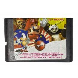 Картридж Сега 9 в 1 Super Mario (Dendy)/ Tanki (Dendy)/ Battletoads/ Sonic