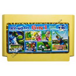 Картридж денди (6 в 1) Turtles 3/ Adventure Island/ Dr Mario/ Soccer