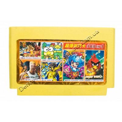 Супер Картридж карик денди (188 в 1) 188 разных игр Dendy  8 бит недорого по низкой цене!