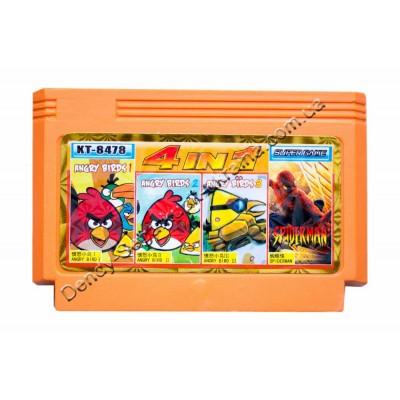 Картридж Dendy 8 bit Angry Bird-1-2-3/Spiderman