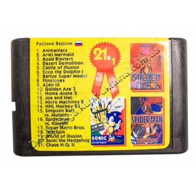 Картридж Sega 16 bit Animaniacs/ Barbie/ Flinstones/ NHL Hockey 93