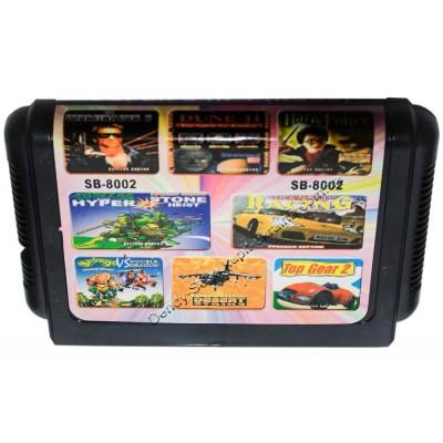Картридж Sega 16 bit Terminator 2/ Dune 2/ Turtles: the hyperstone heist/ Battletoads: double dragon/ Racing rockn roll/ Top gear 2/ Desert strike/ Harry Potter