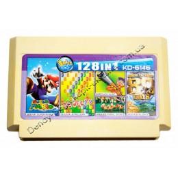 Картридж денди (128 в 1) Duck Hunt/Super Mario/80 days