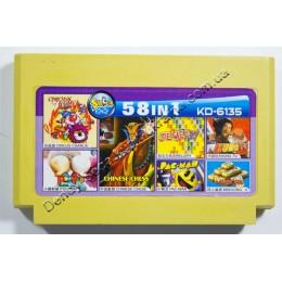 Картридж денди (58 в 1) Pac-Man/ Circus/ Jewellery/ Kung Fu