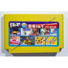 Картридж денди (66 в 1) Super Mario/ Tennis/ Kung Fu/ BaseBall