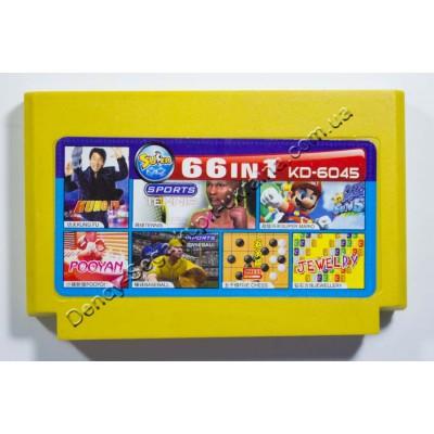 Картридж Dendy 8 bit 66 Super Mario/ Tennis/ Kung Fu/ BaseBall