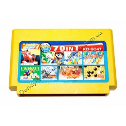 Картридж денди (70 в 1) Super Mario/ Tank 90/ Lunar Ball/ F1 Race