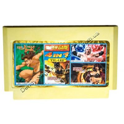 Картридж Dendy 8 bit Mortal Kombat 4, Mortal Kombat 5, Jungle Book, Wrestle War