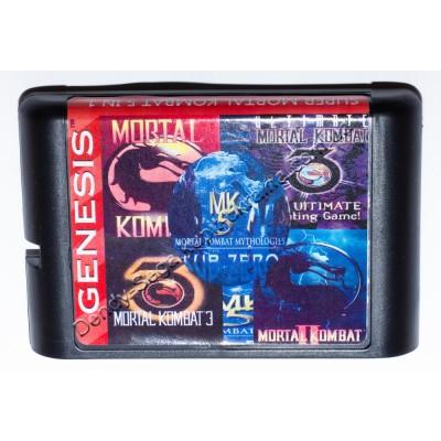 Картридж Sega 16 bit 5 в 1 Mortal Kombat Антология