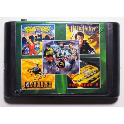 Картридж Sega 16 bit 5 в 1 MK-3:U/ Battletoads-2: Double Dragon