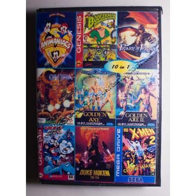 Картридж Sega Mega Drive 16 bit BoogerMan/ Golden Axe 1+2/ Contra/ Duke Nukem 3D/ Animaniacs/ Goofy/ Prince of Persia/ X Man/ X Man 2