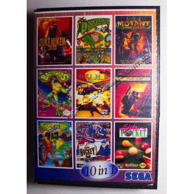 Картридж Sega Mega Drive 16 bit Duke Nekem 3D/ BoogerMan/ Doom Tropers/ BattleTech/ Dune/ Top Gear 2/ Battletoads 2/ Side Pocket/ Streets of Rage/ Hockey