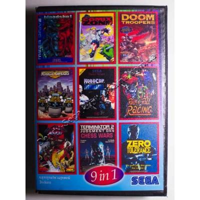 Картридж Sega 16 bit Bloodshot/ Rockn Roll Racing/ Judge Dredd/ Skeleton Krew