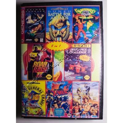 Картридж Sega 16 bit 8 в 1 Battletoads-2: Double Dragon/ Dune